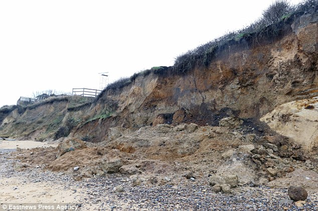 Man dies as cliff collapses in Thorpeness, Suffolk