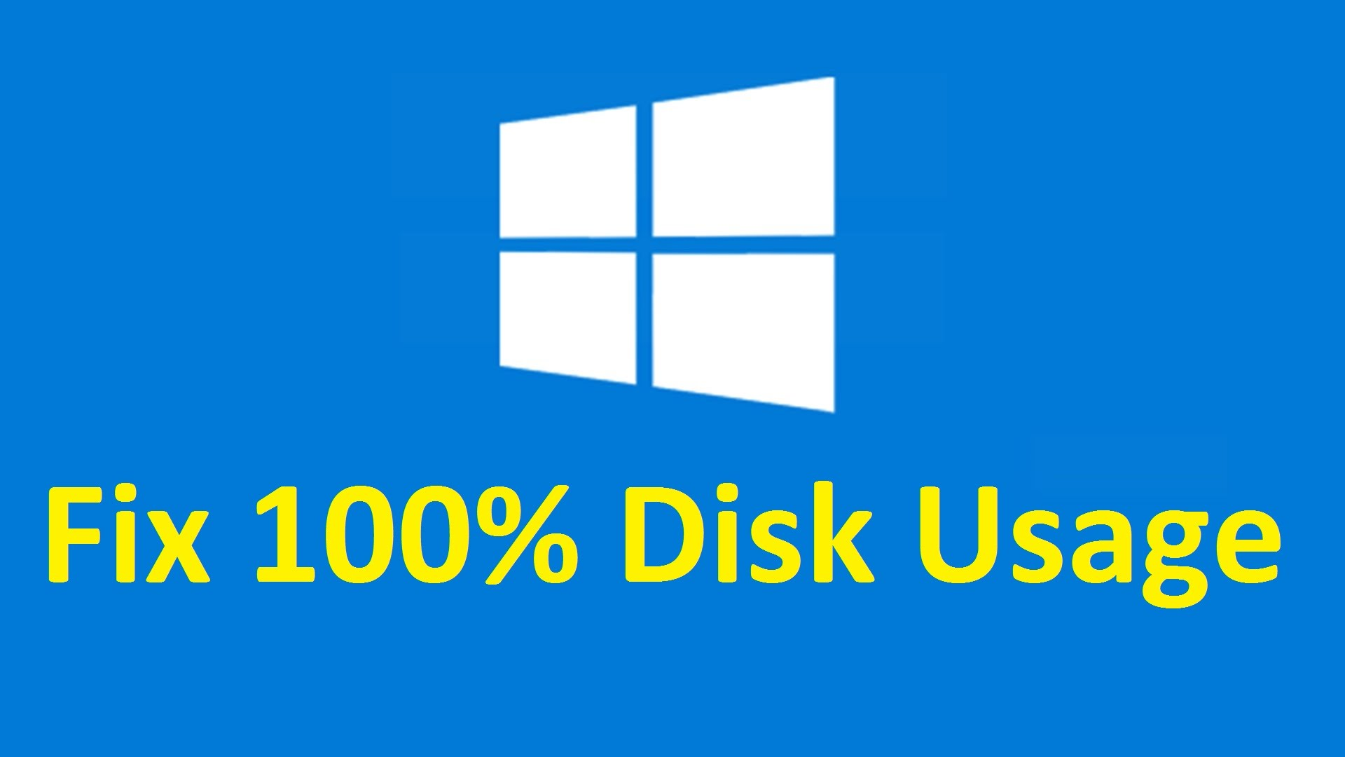 windows 10 high disk usage after boot